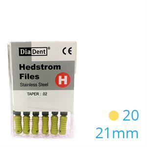 HEDSTROEM VIJL STAINLESS STEEL 21MM 020 X6ST.