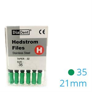 HEDSTROEM VIJL STAINLESS STEEL 21MM 035 X6ST.