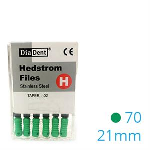 HEDSTROEM VIJL STAINLESS STEEL 21MM 070 X6ST.