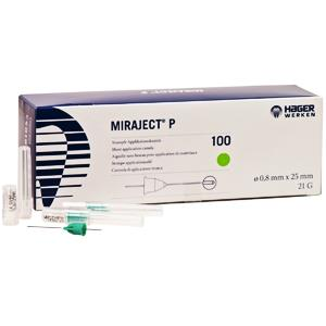 MIRAJECT P NAALDEN 21G 0,8X25MM. X100ST.