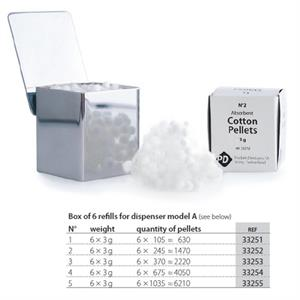 PD COTTON PELLETS NR.1 (6 REFILLS)