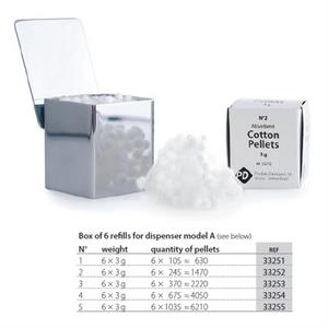 PD COTTON PELLETS NR.3 (6 REFILLS)